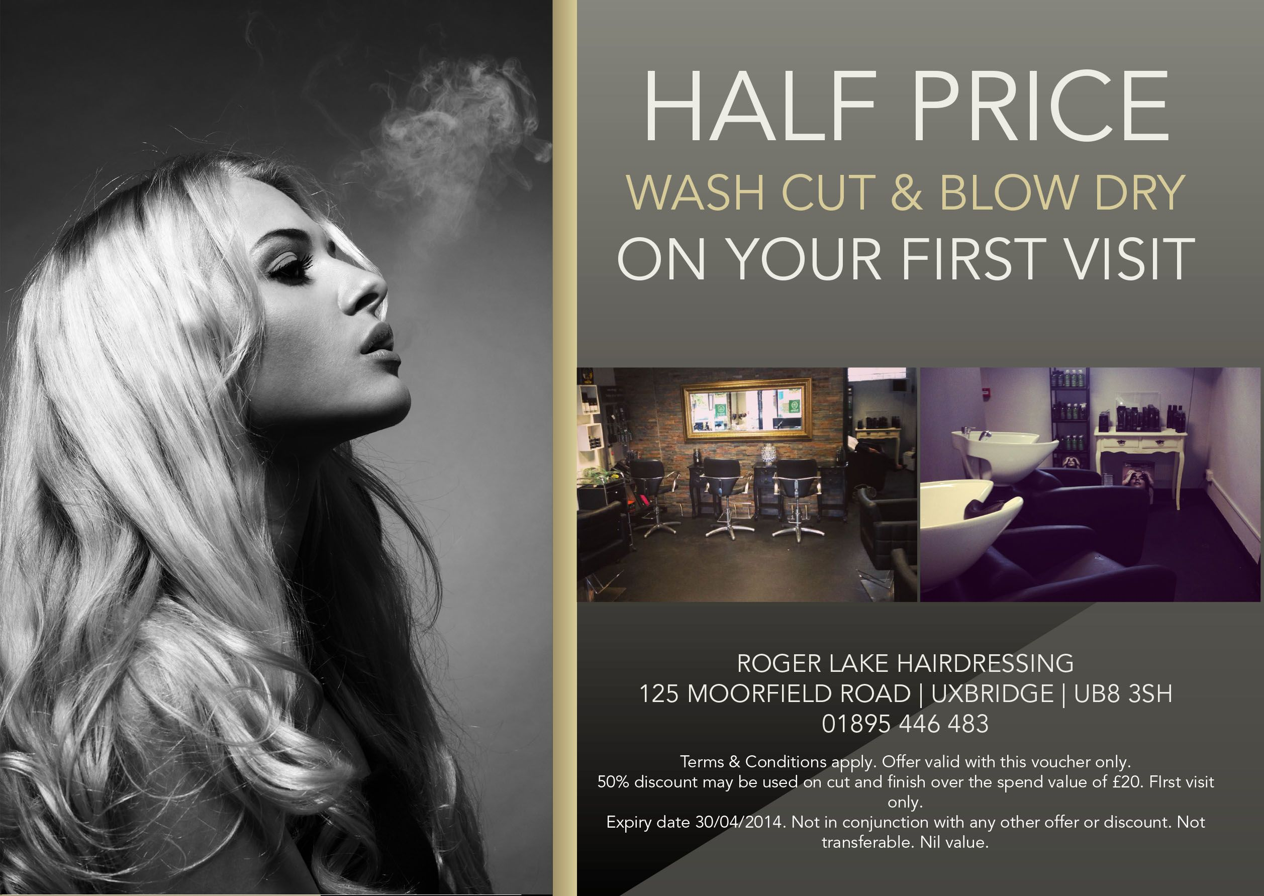 Hair salon flyer offering discounts  Hair salon marketing, Salon