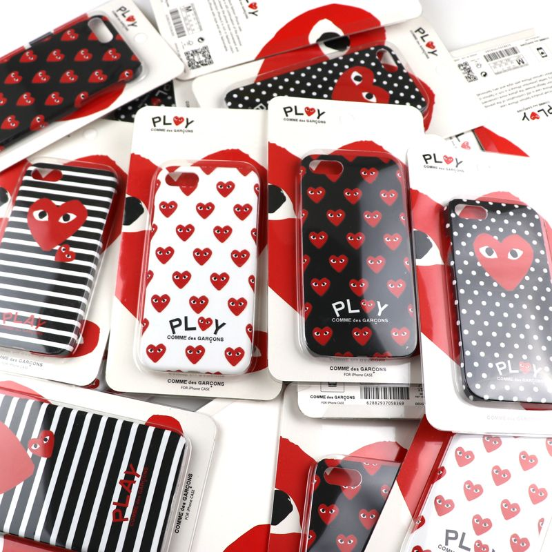 9b822ac6e087d8 Fashion Japan tide brand CDG PLAY Comme des Garcons Loving eyes case cover  for iphone 7 7plus 6 6plus Luminous Case coque capa