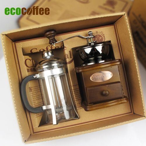 Free Shipping Nice Coffee Accessories Gift Box coffee grinder+ ...