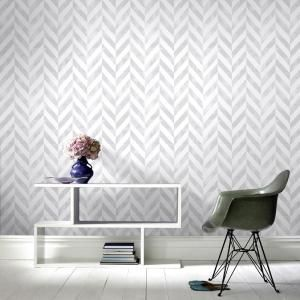 Graham Brown Symmetry Italie Silver Removable Wallpaper 103294