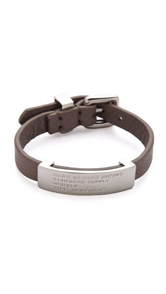 Marc By Jacobs Standard Supply Leather Id Bracelet