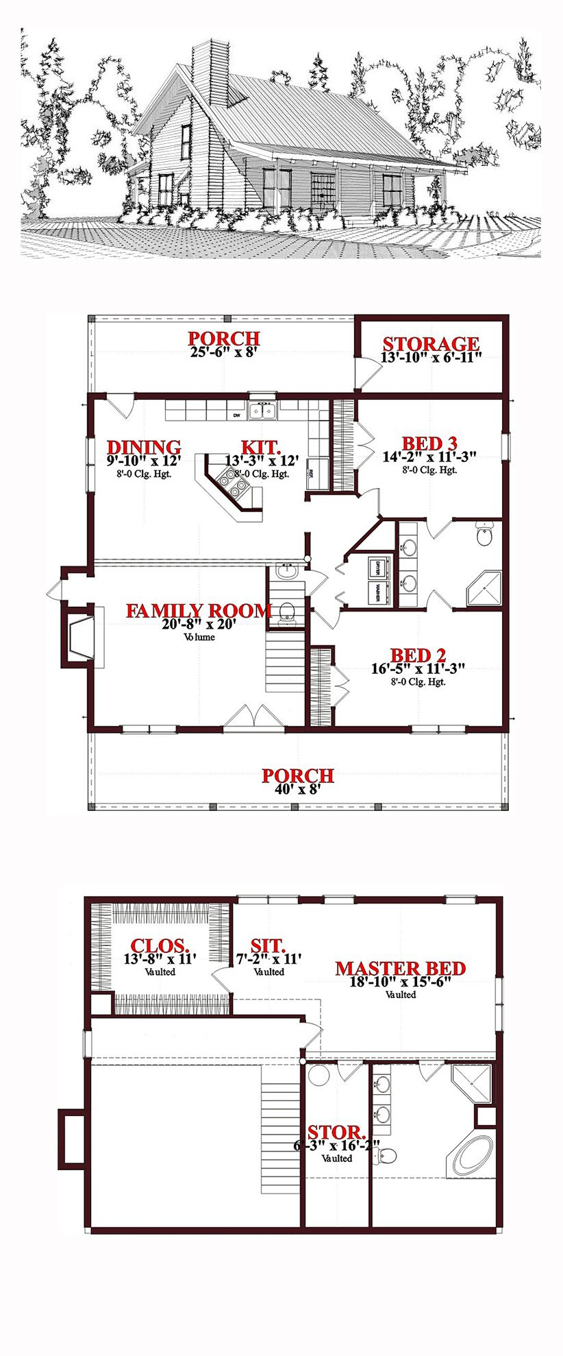 Cabin country log house plan 78649 saltbox houses for Salt box house plans