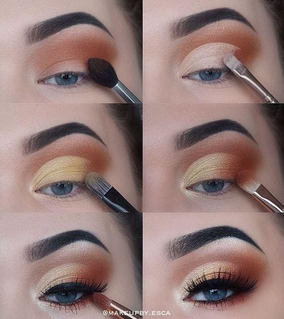 Schritt für Schritt Augen Make-up Tutorial, Schnittfalte Augen Make-up Tutorial #make-upideen