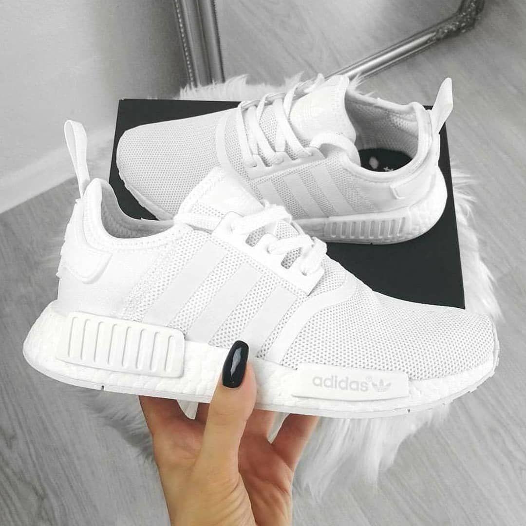 Adidas Nmd R1 Triple White Premium Quality Size 36 37 38 39 40 Limited Stock Price Ask Me Sepatu Kets Model Sepatu Sepatu Perempuan