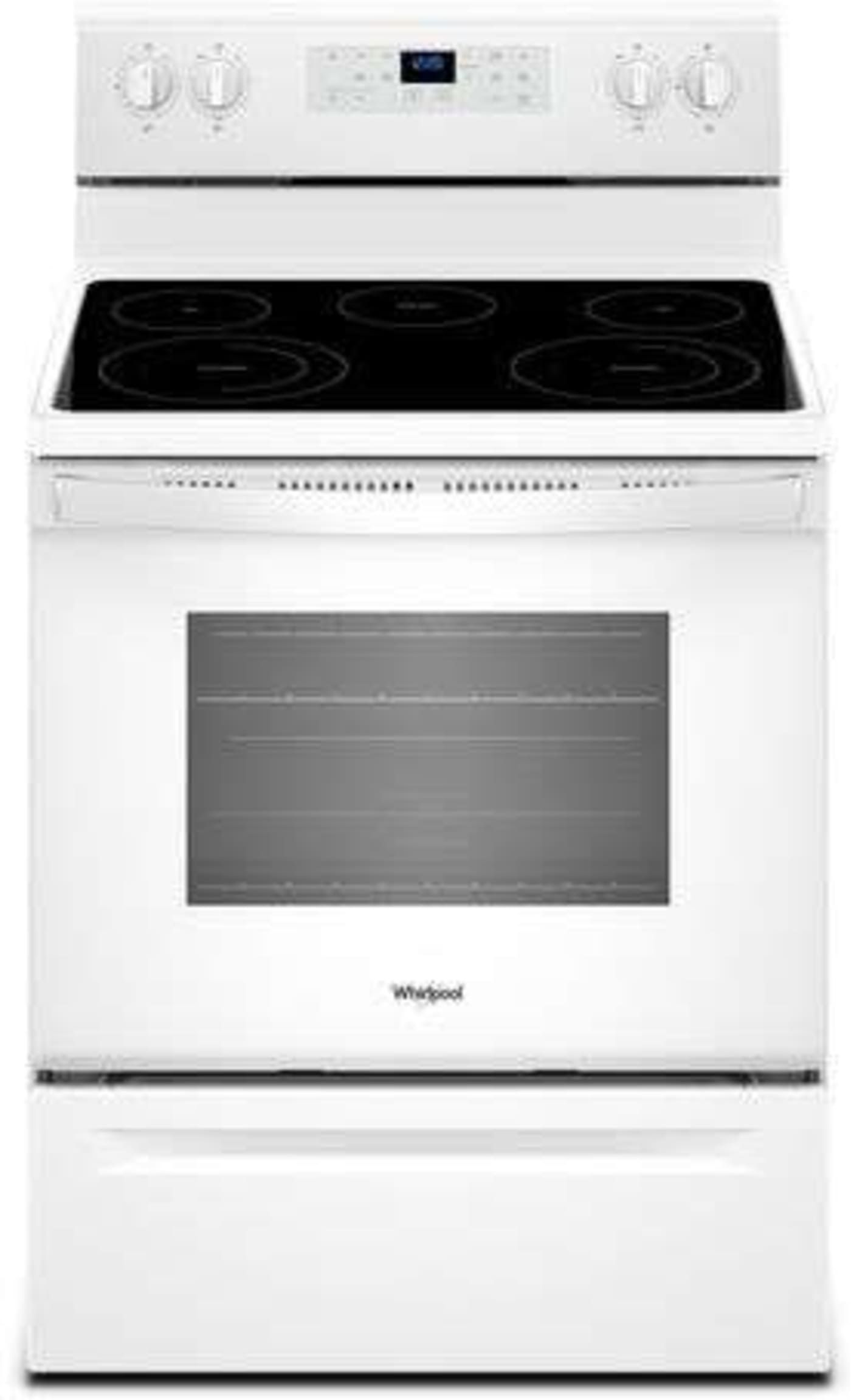 Wfe525s0hw By Whirlpool Electric Ranges Goedekers Com Freestanding Electric Ranges Electric Range Glass Cooktop