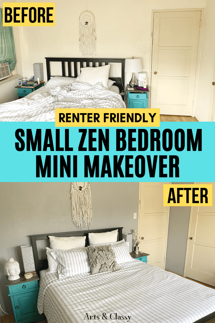 Small Master Bedroom Makeover On A Budget Master Bedroom