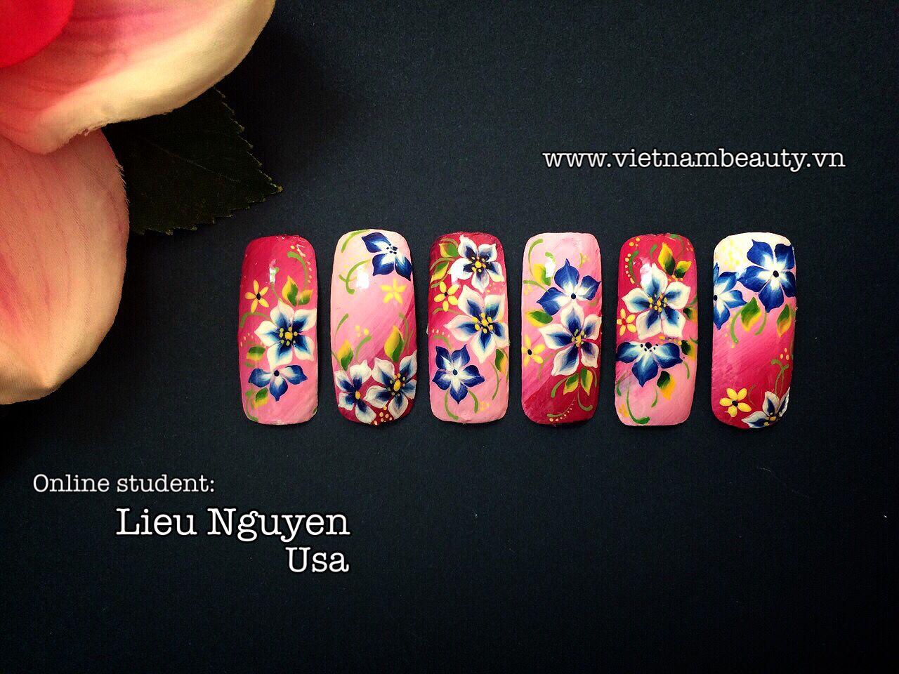 Student: Lieu Nguyen - Usa, Live Online Nail Training at ...