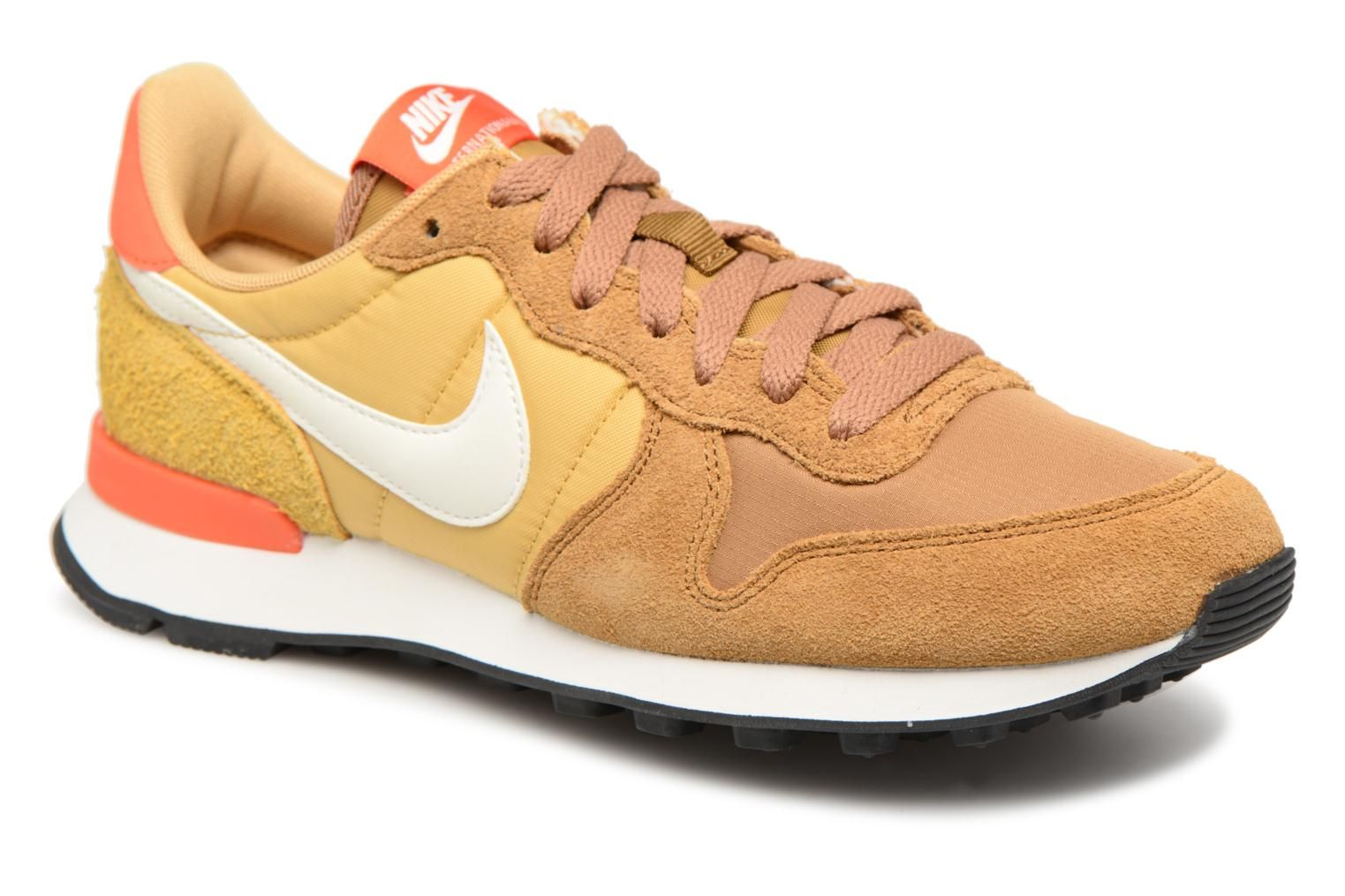 nike internationalist zwart goud