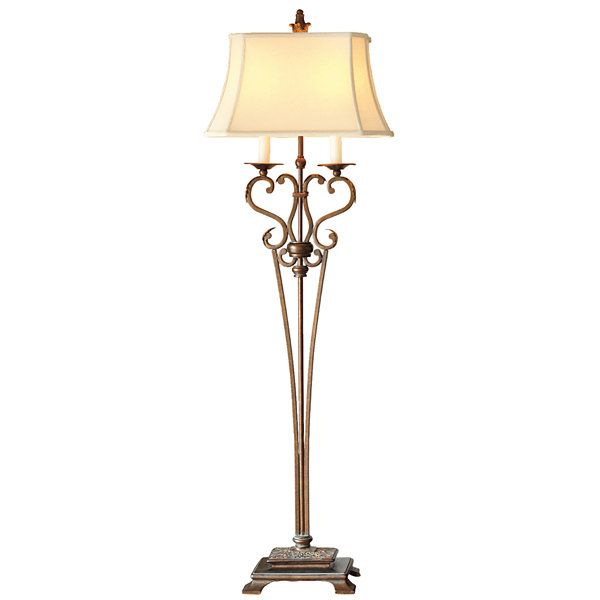 Chris madden iron scroll floor lamp jcpenney