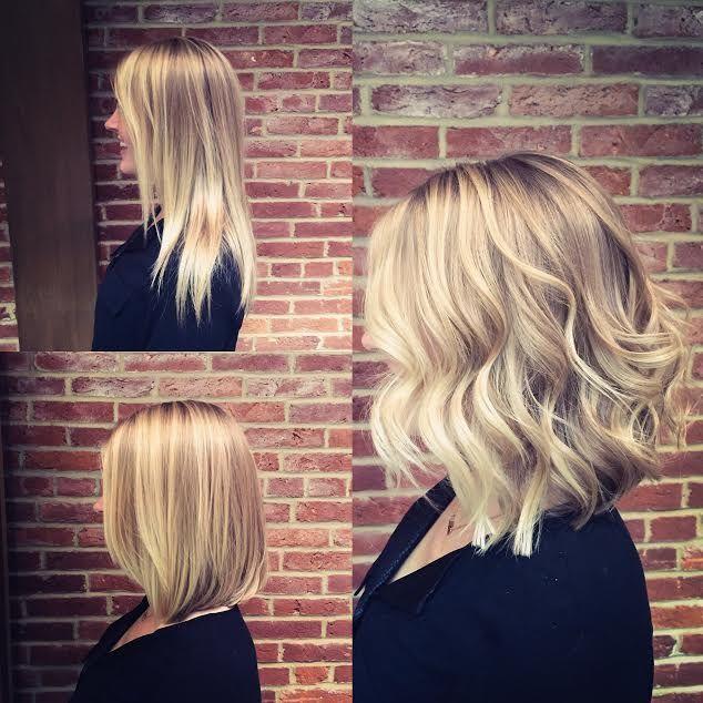 Before and after – shoulder length hair ideas  – Frisuren