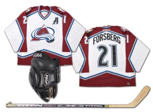 Peter Forsberg 2002-03 Colorado Avalanche Game-Worn Alternate Captain s  Jersey e4b5e83a53d