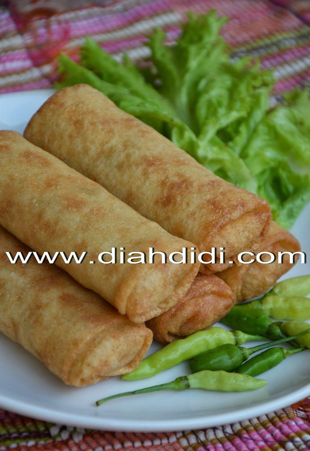 Diah Didi S Kitchen Resep Kulit Lumpia Mudah Resep Resep Masakan Makanan Dan Minuman