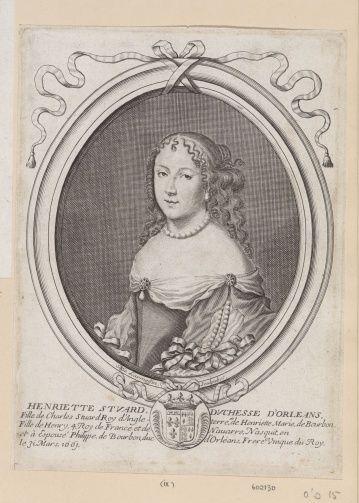 Henriette-Anne, Minette, duchesse d'Orleans (1644-1670), 17th century by Nicholas de Larmessin I (1632-94)