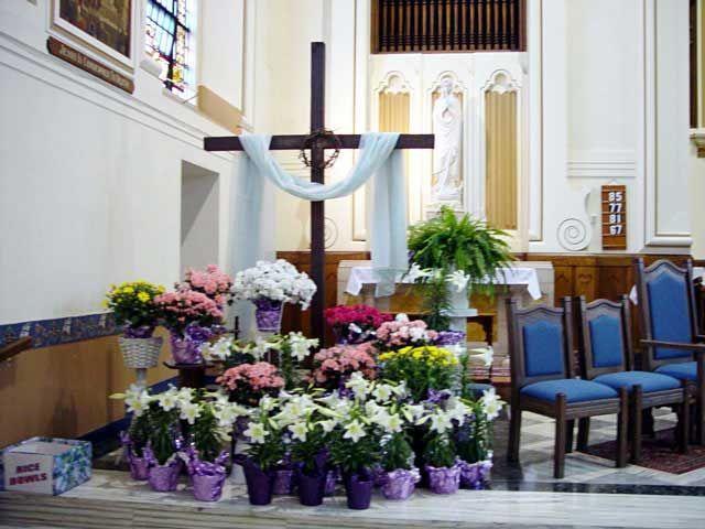 Easter Decorations For Church Sanctuary Modern Church Sanctuary