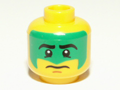 5fad51cbd BrickLink - Part 3626bpb0689 : Lego Minifig, Head Face Paint with Green War  Paint Pattern - Blocked Open Stud [Minifig, Head] - BrickLink Reference  Catalog