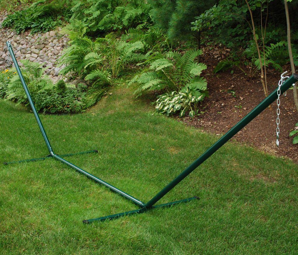 Algoma net u solid steel hammock framehunter green new yard