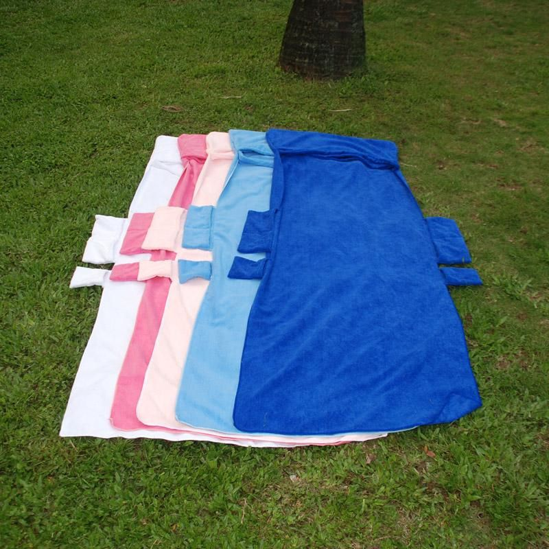 wholesale blanks folding lounge chair pad chair cover solid color