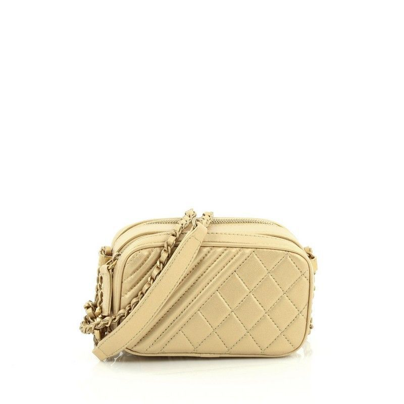 d7515595cd55 Chanel Coco Boy Camera Bag Quilted Leather Mini - This Chanel Coco Boy  Camera Bag Quilted