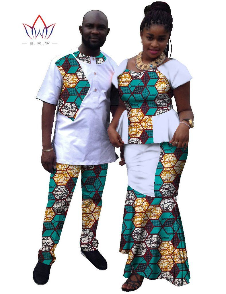Fashion women mermaid skirt sets brand african couples clothing