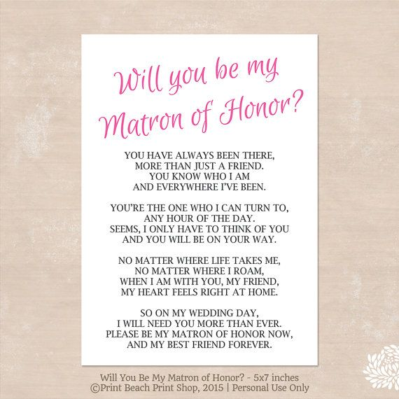 Will You Be My Bridesmaid Poems 5