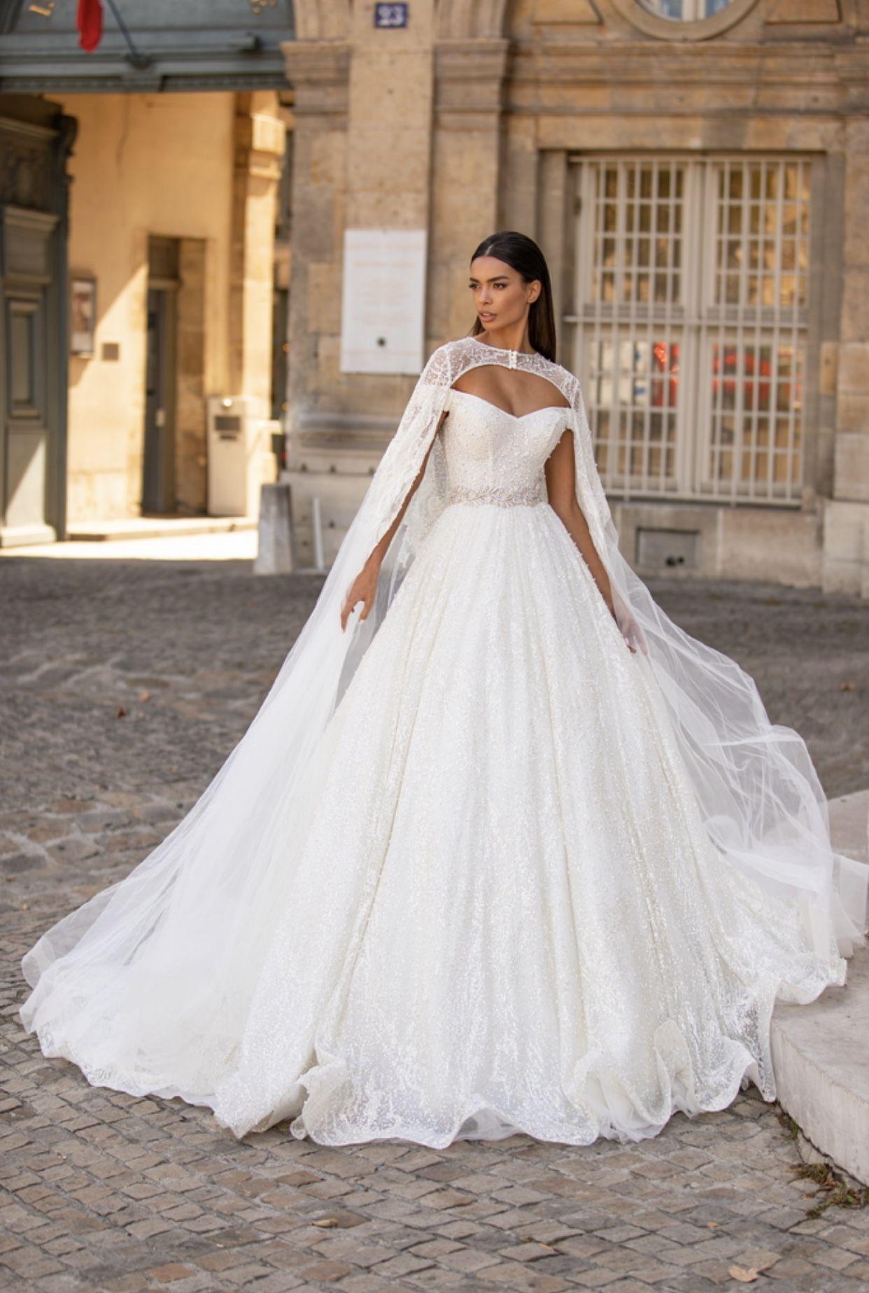 Wedding Dress From Milla Nova Cape Wedding Dress Boho Chic Wedding Dress Ball Gowns Wedding
