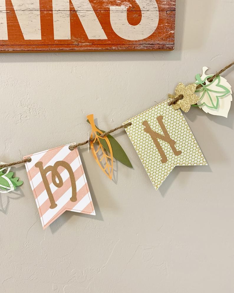 Thanksgiving Decor, Thanksgiving Banner, Fall Leaf Garland, Fireplace Mantel Decor #leafgarland