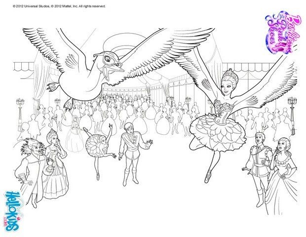 Swans Under Snow Queen Curse Barbie Coloring Page More Barbie Ballerina Coloring Sheets On Hellokids Com Barbie Coloring Pages Coloring Pages Barbie Coloring