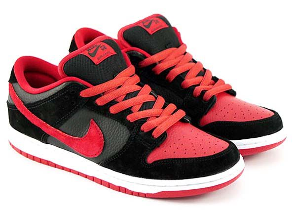 95644cae46ae6a NIKE DUNK LOW PRO SB J PACK  BRED BLACK UNIVERSITY RED  (304292-039 ...