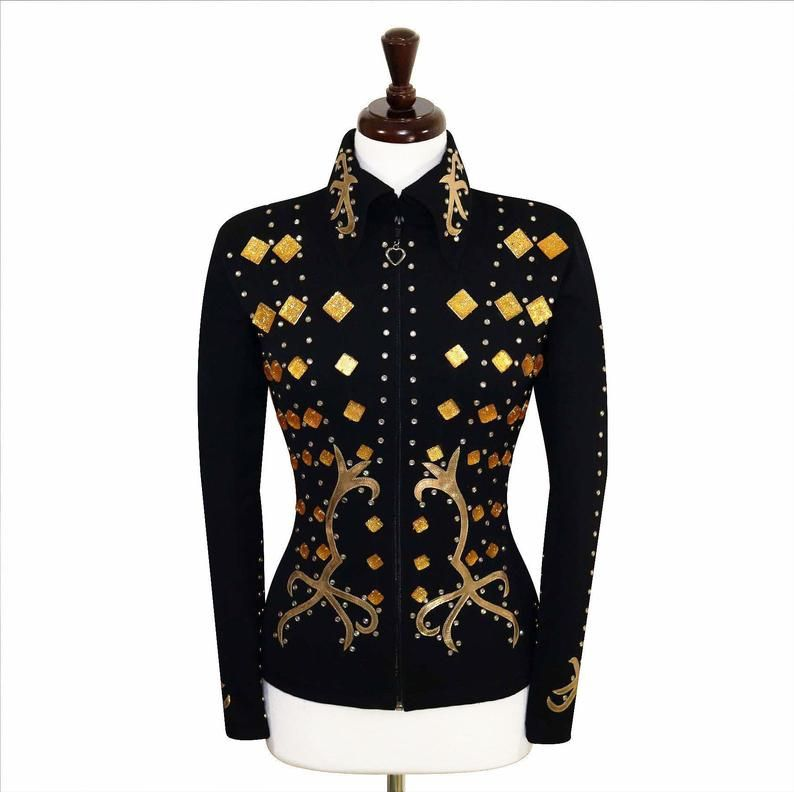 MEDIUM Showmanship Pleasure Horsemanship Show Jacket Shirt Rodeo Queen Western