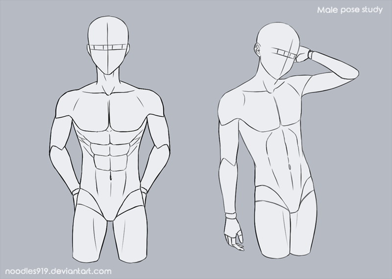 Male Pose Study 3 By Noodles919 On Deviantart Anime Poses Reference Drawing Poses Art Reference Poses