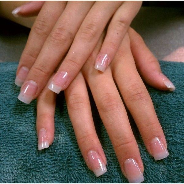 Clear acrylic for natural looking nails Things I love ❤ liked on ...