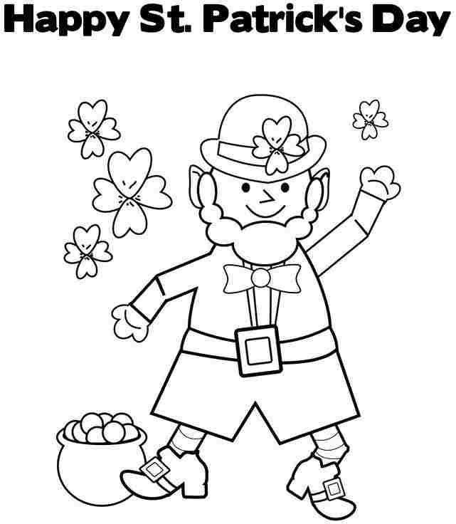 Coloring Pages Saint Patrick Leprechaun Printable Free For Kids ...