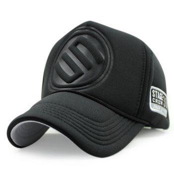 37592372560 Stylish Round Badge Shape Embellished Men s Thicken Baseball Cap in ...