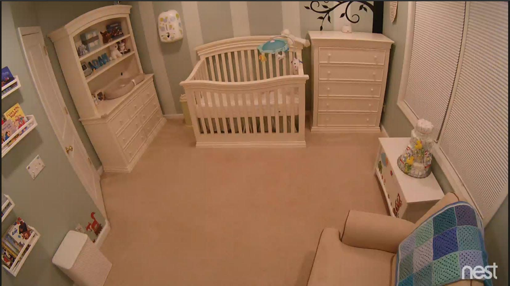 View from our nest cam. baby nursery  Baby nursery, Nursery, Home