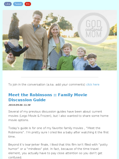 Check out this Mad Mimi newsletter  Meet the robinsons