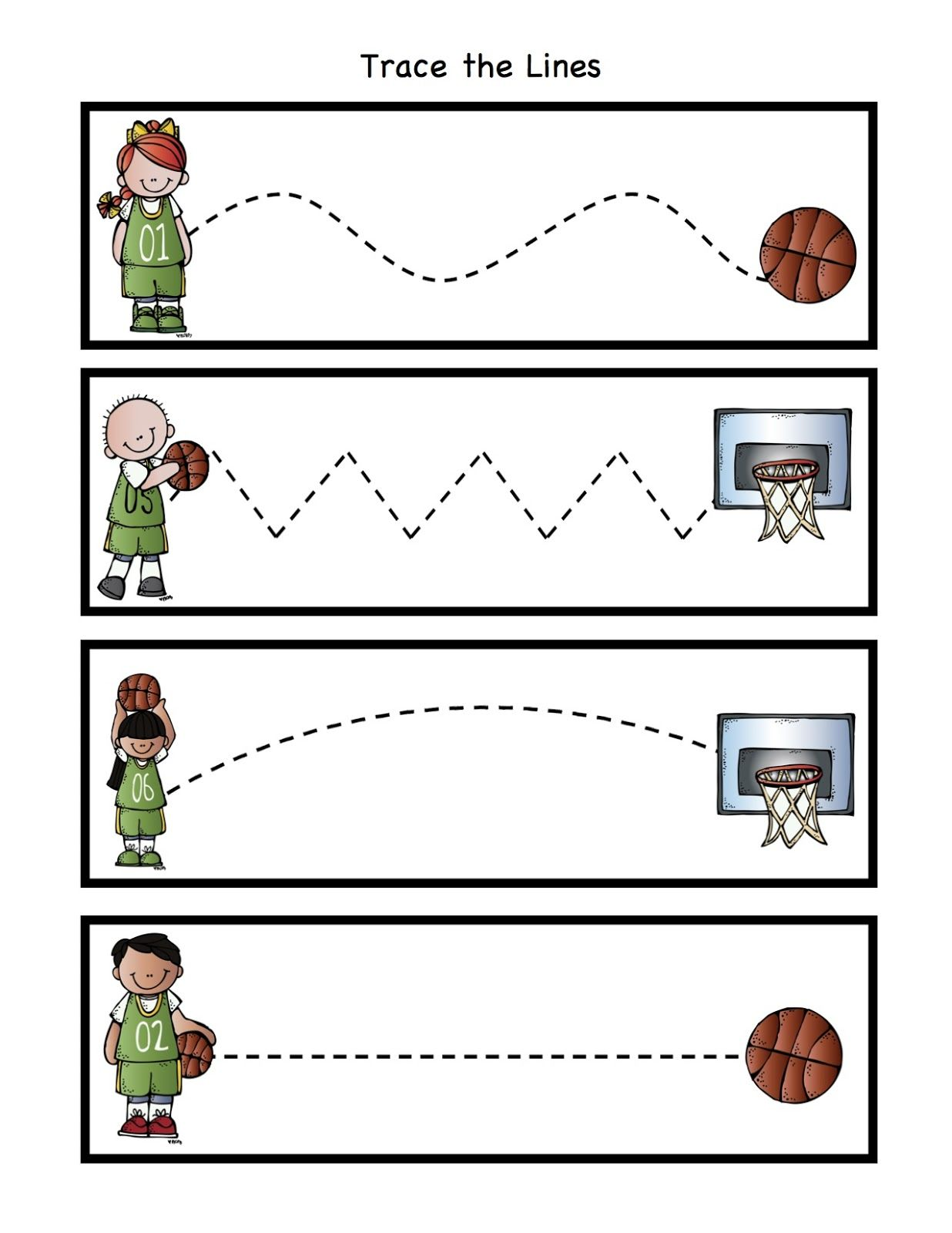 Preschool Printables Basketball With Images