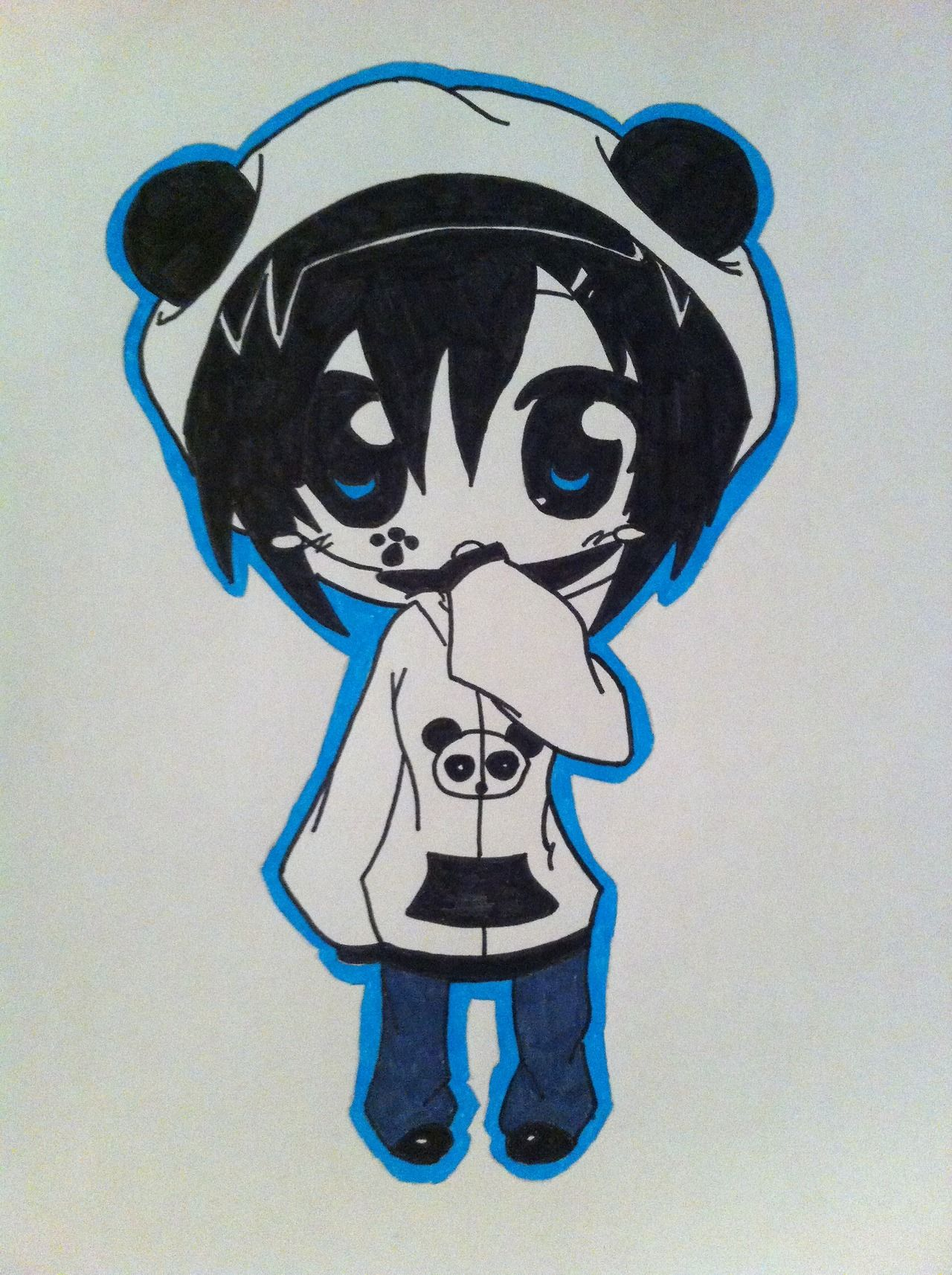 Chibi panda hoodie Chibi panda, Emo art, Illustration art