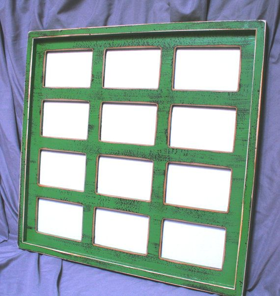 12 multi opening picture frame 4x4 5x5 5x7 or 4x6 first year frame multi collage picture frame multiple opening collage frame