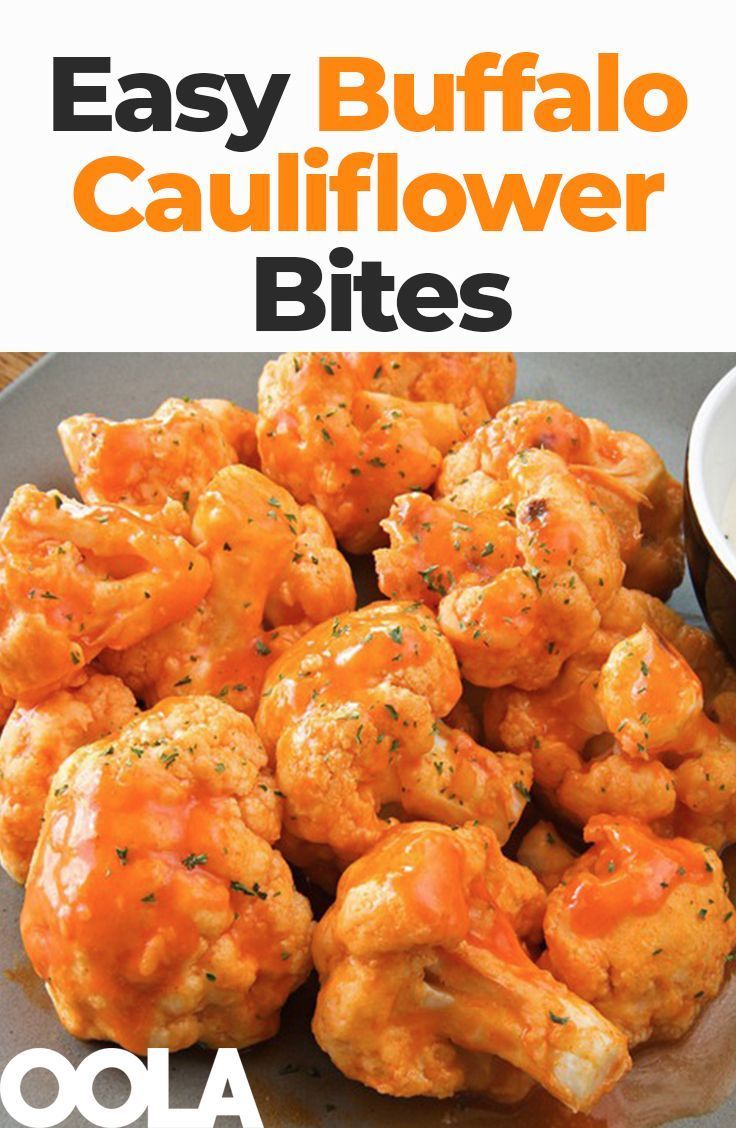 Easy Buffalo Cauliflower Bites – The perfect wing alternative! These spicy, low-… – Carey&CleanEatingS