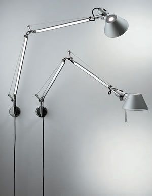 Artemide Tolomeo Wall Lamp By Michele De Lucchi Giancarlo Fassina Wall Mounted Swing Arm Wall Lamps Wall Lamp Tolomeo Wall Lamp