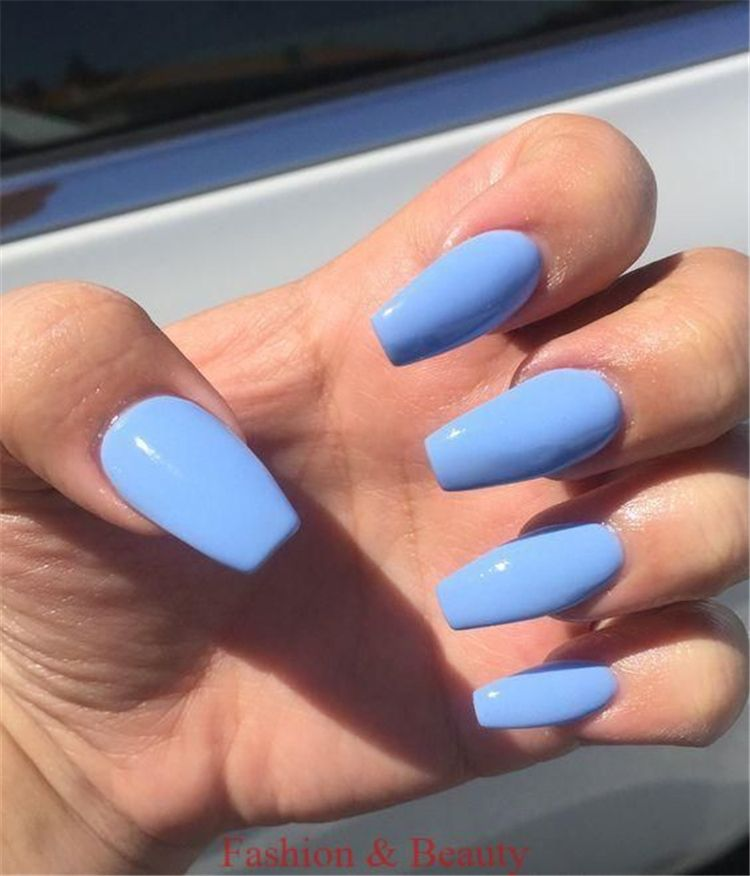 Trendy And Bright Summer Nail Colors You Must Try This Summer Bright Summer Nail Colors Bright Nail Colors Sum Blue Acrylic Nails Acrylic Nails Trendy Nails