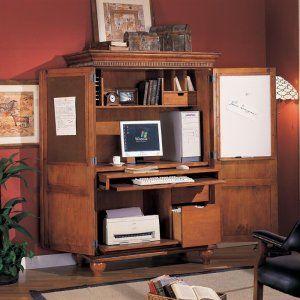 Superbe Sunrise Home Office Computer Armoire Interior