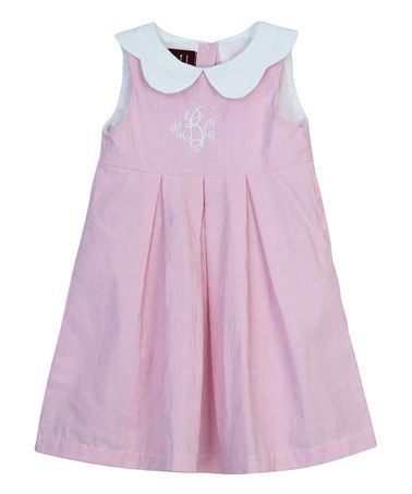Look what I found on #zulily! Pink & White Peter Pan Collar