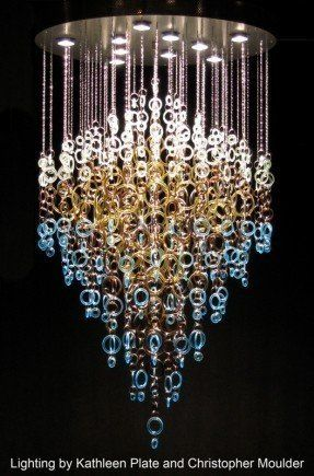 Gorgeous recycled glass chandelier by kathleen plate of smart glass gorgeous recycled glass chandelier by kathleen plate of smart glass mozeypictures Image collections