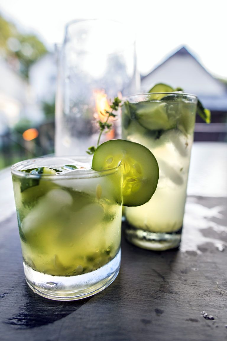 Cucumber Basil Gimlet | Recipe | Basil gimlet. Gimlet. Basil simple syrup