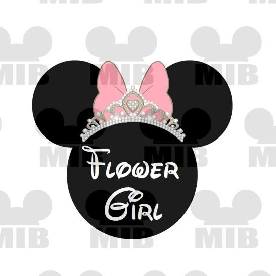 Disney Wedding FLOWER GIRL Perfect for Your Disney by MiceInBlack, $5.00