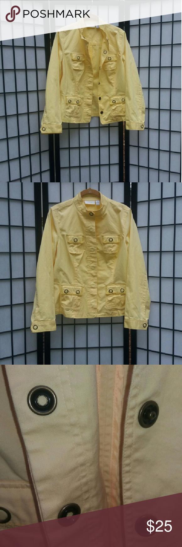 Jacket Chico's yellow lightweight jacket Chico's Jackets & Coats Jean Jackets