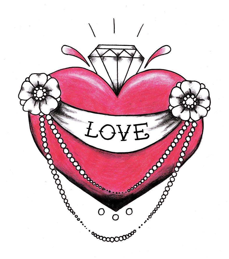 Tattoo Diamond Heart Tattoo Heart Tattoo Designs Heart Tattoo