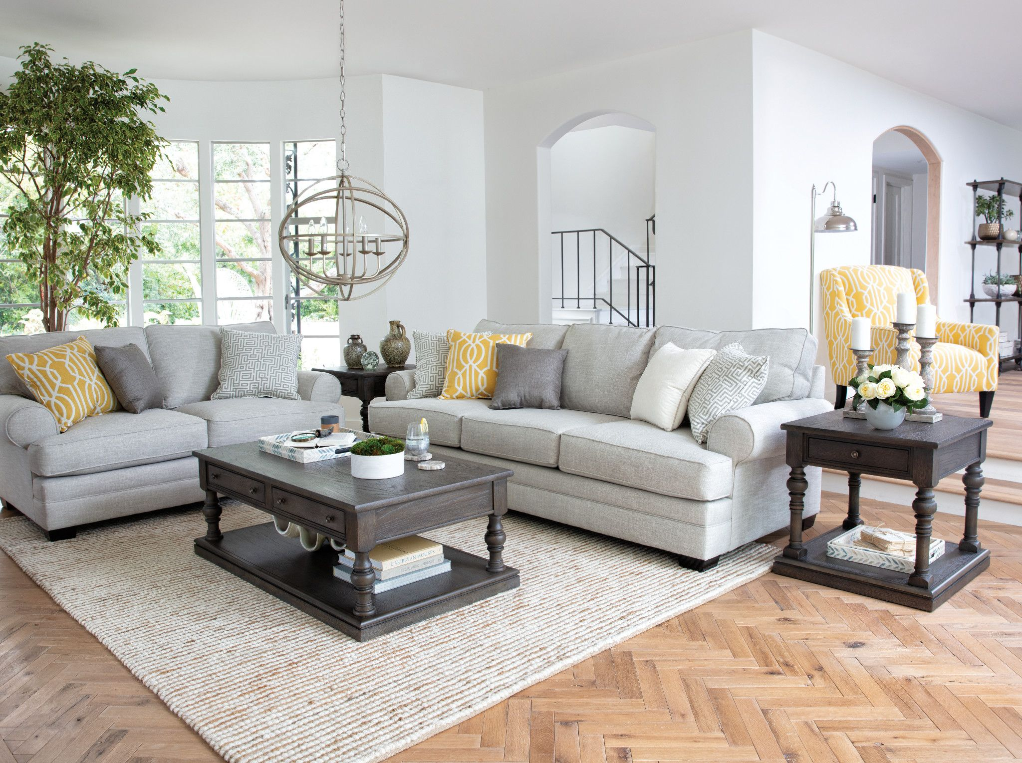 A Classy Living Room Featuring The Karen Sofa Collection Li