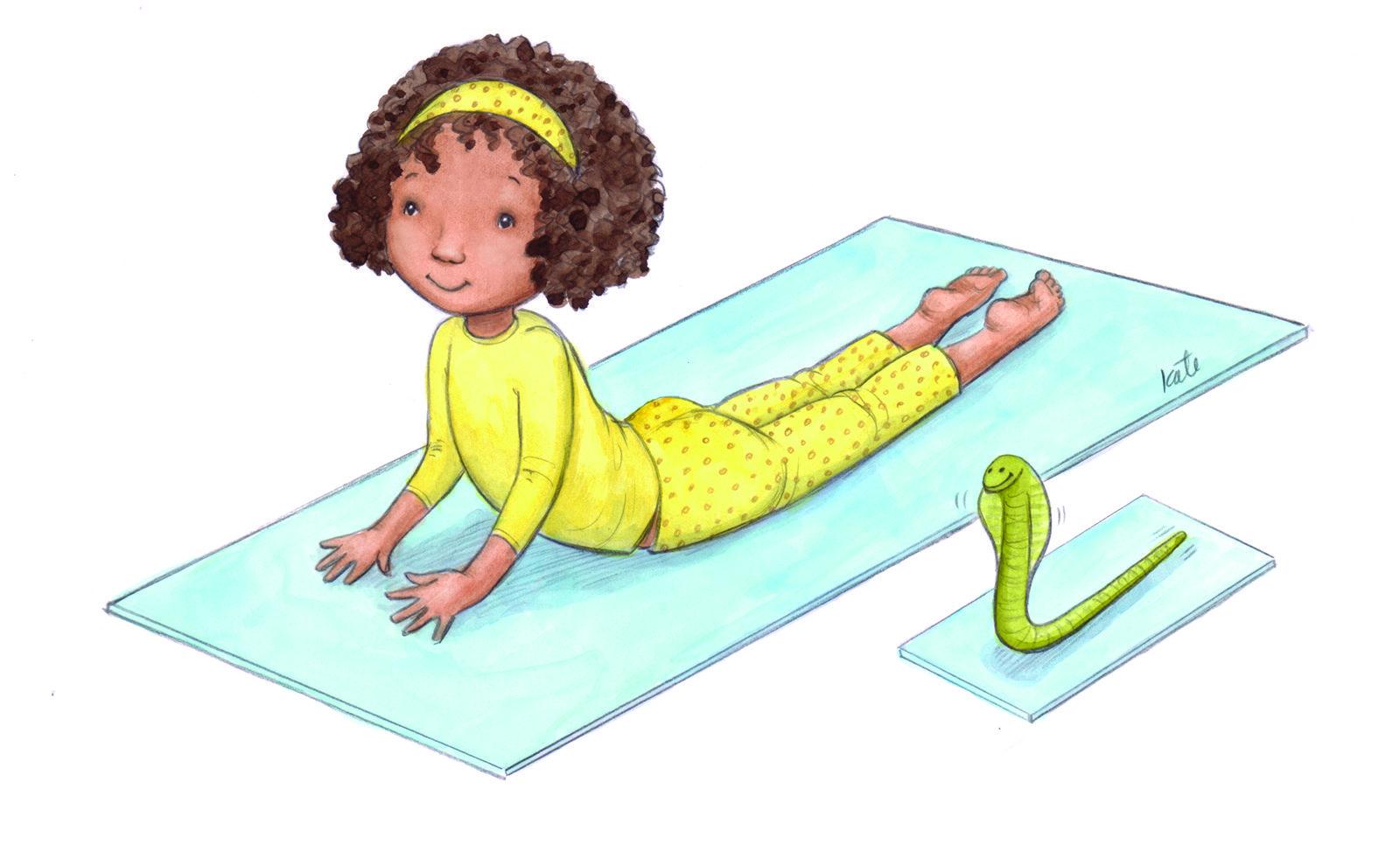 Картинки йога для детей